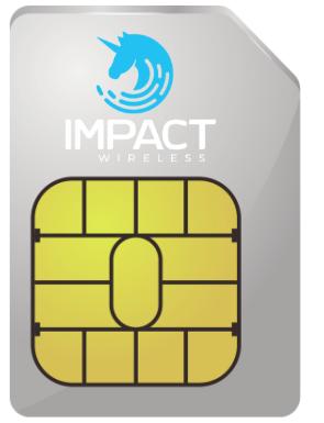 Impact Wireless BLUE – SIM Card